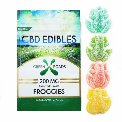 200mg Froggies CBD Infused Gummy Frogs 4ct Bag - Green Roads