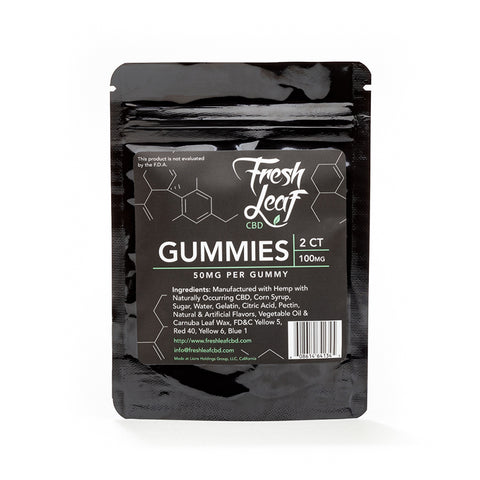100mg CBD Gummies - FreshLeaf CBD