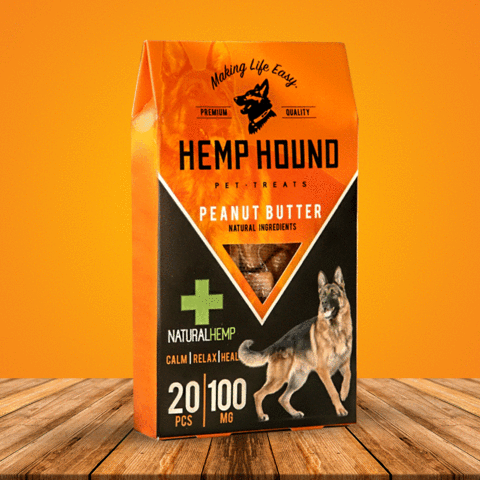 100mg Peanut Butter Hemp Hound Pet Treats 20pcs/Bag - Juice Roll Upz