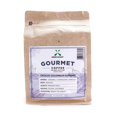 250mg  CBD Infused Gourmet Coffee 16oz Bag - Green Roads