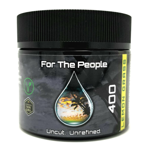 400mg Unrefined CBD Lemon Grass Salve 2oz Jar - CBD For The People