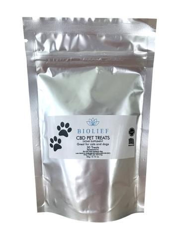 150mg CBD Pet Treats 30ct Pouch - Biolief