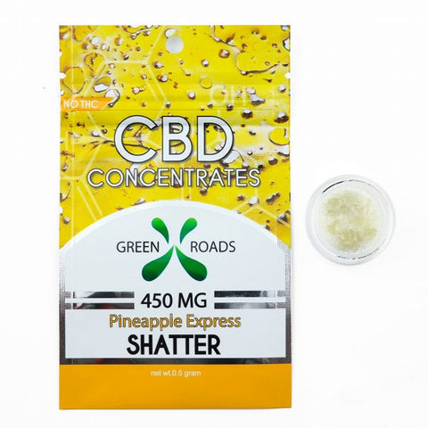450mg Pineapple Express CBD Shatter 0.5Grams - Green Roads