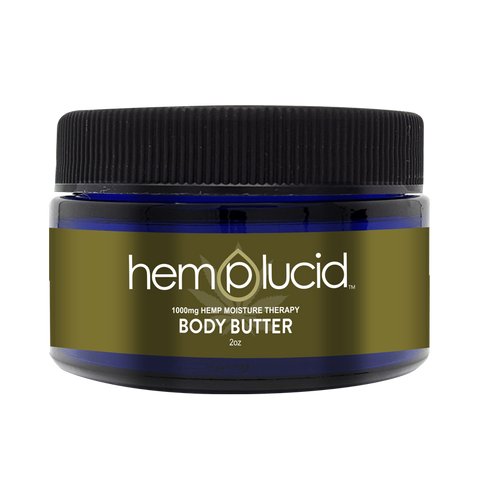 1000mg Body Butter CBD Lotion 2oz Jar - Hemplucid