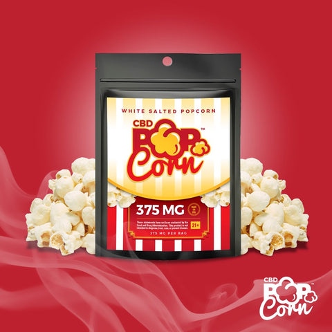 375mg CBD White Salted Popcorn - Jolly Green Oil