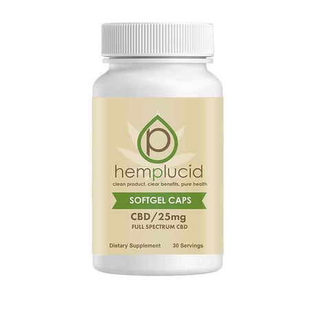 25mg Whole-Plant™ CBD  Soft-Gel Caps 30ct - Hemplucid
