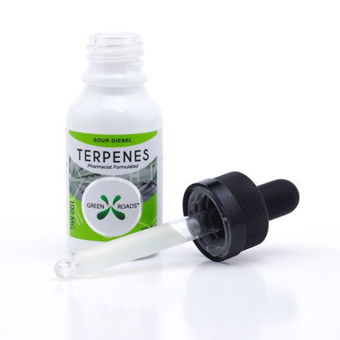 100mg Sour Diesel CBD Terpenes Oil Tincture 15ml - Green Roads