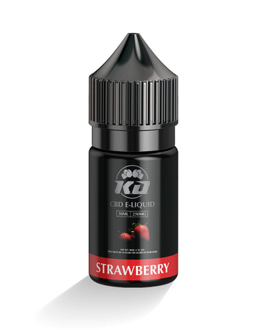 250mg Strawberry CBD Vape Juice 30ml - Knockout CBD