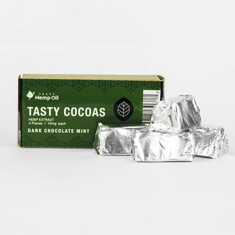 10mg CBD Tasty Cocoas Mint Chocolate 2 Boxes (4pcs/box)-Tasty Hemp Oil
