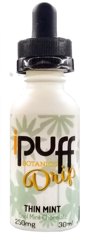 250mg Thin Mint Flavored CBD Drip 30ml - iPuff