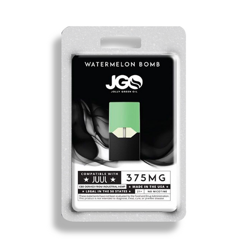 375mg Watermelon Bomb CBD Vape Juul Pod 0.6ml - Jolly Green Oil