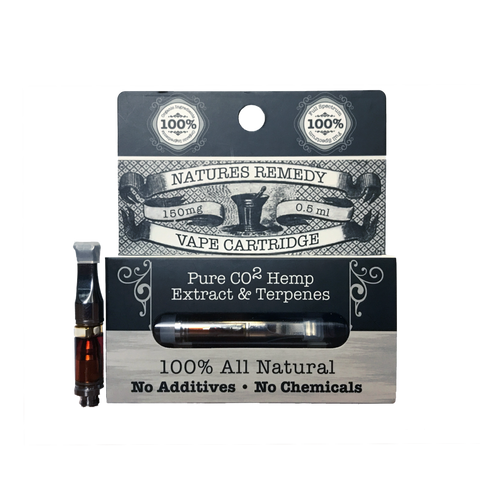 150mg Hemp Extract Vape Cartridge 0.5ml - Natures Remedy