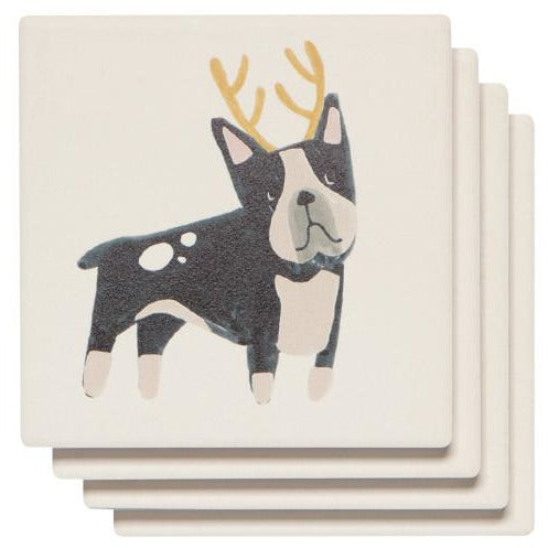 Soak Up Coaster Yule Dogs