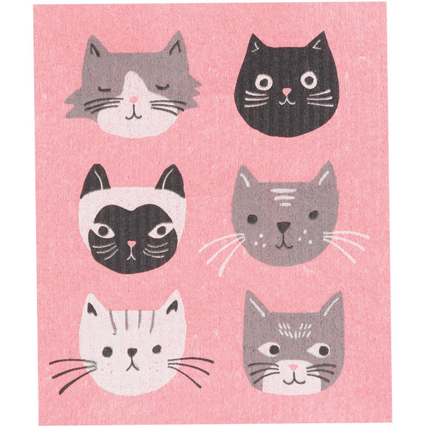Swedish Dishcloth - Purr Party