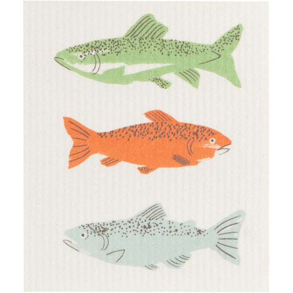 Swedish Dishcloth - Fishing