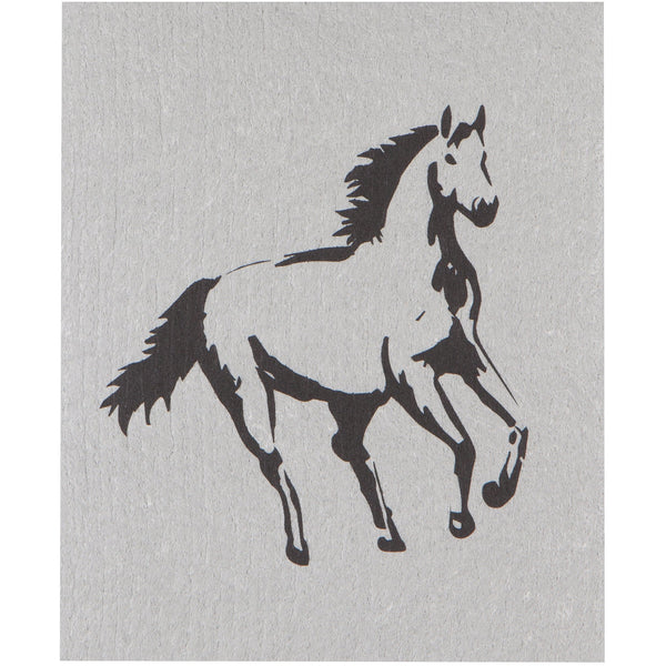 Swedish Dishcloth - Horses