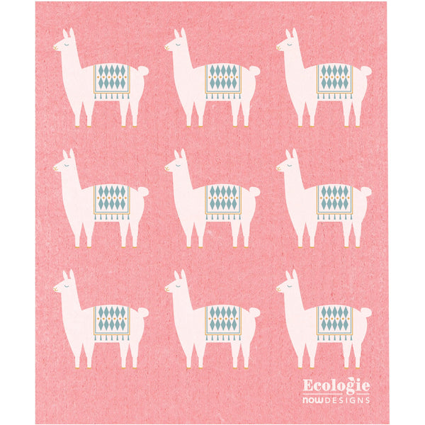 Swedish Dishcloth - Happy Llama