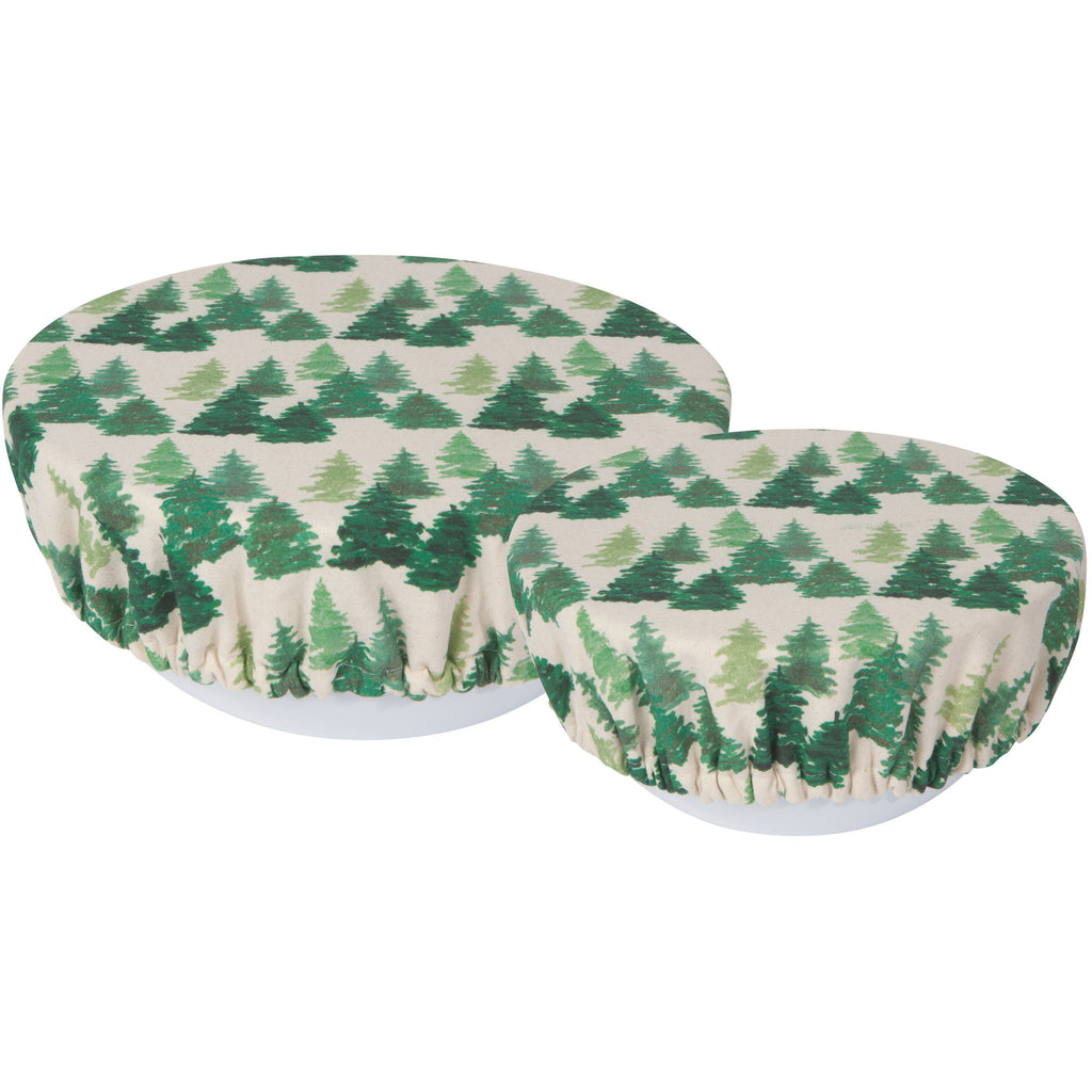 Bowl cover set in woods