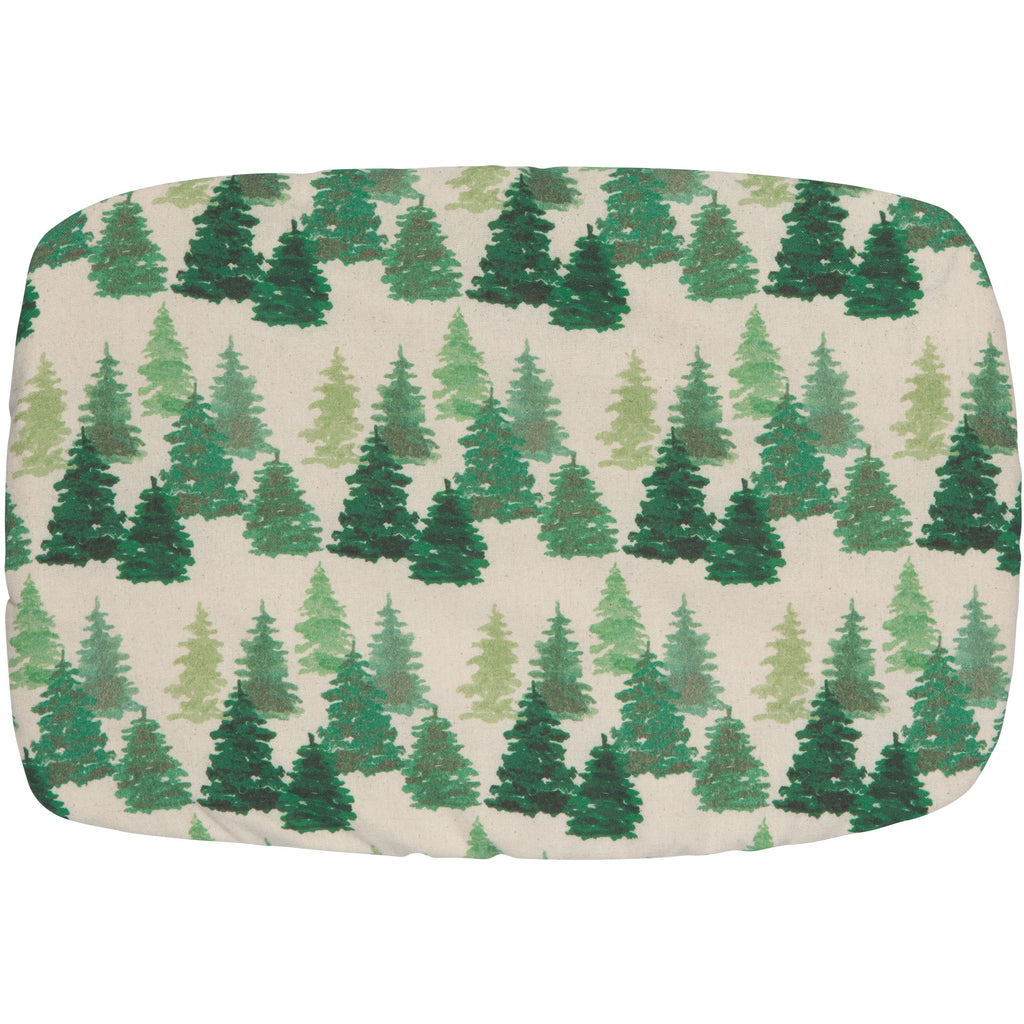 Baking dish cover in woods