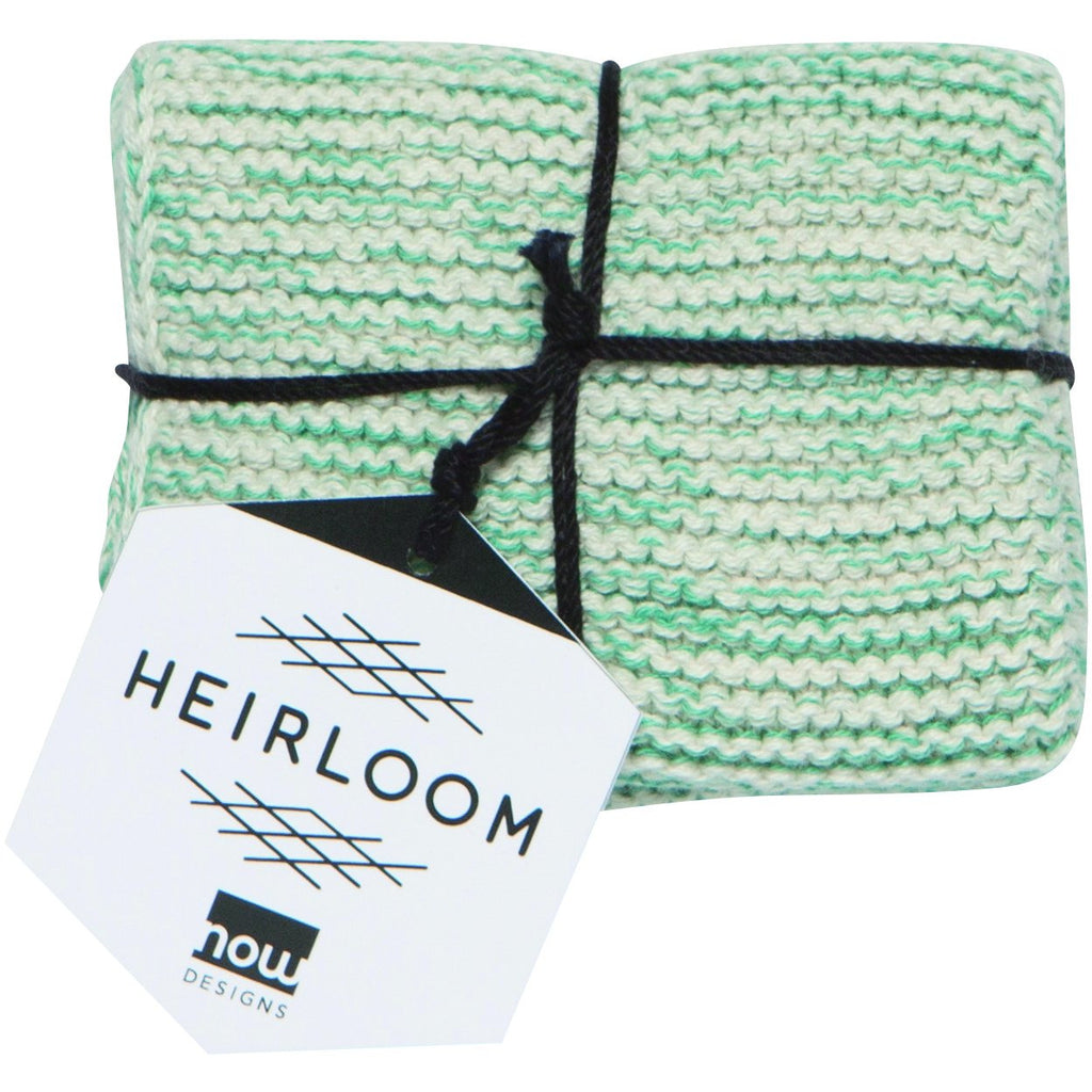 Knit Heirloom Dishcloth Lagoon