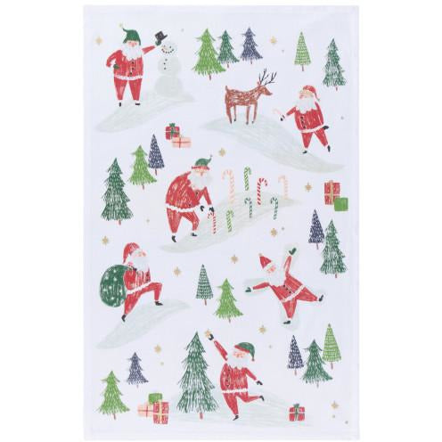 Must Be Santa Tea Towel