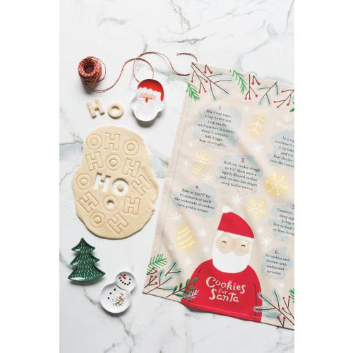 Cookies for Santa Tea Towel
