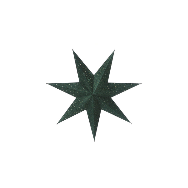 Hanging Star Decoration Green
