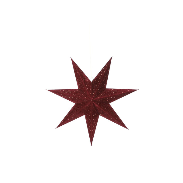 Hanging Star Decoration Bordeaux