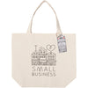 I Love Small Business Tote Bag