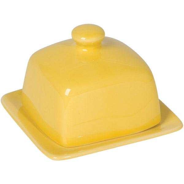 Square Yellow Butter Dish