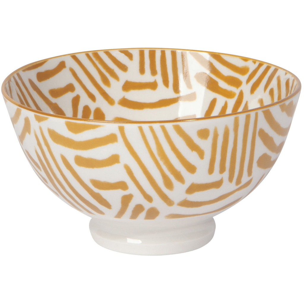 Porcelain Bowl with Ochre Lines