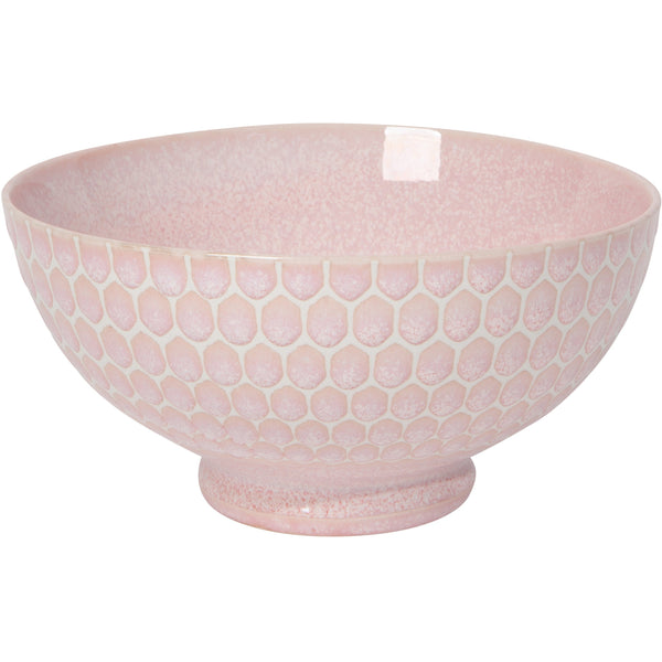 Honeycomb Pink Soup Bowl