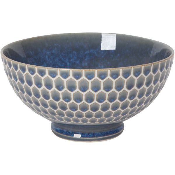 Honeycomb Blue Soup Bowl