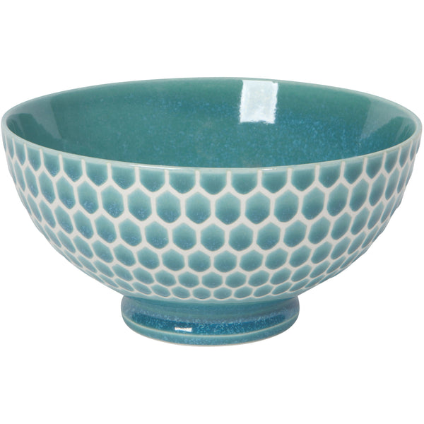 Honeycomb Teal Soup Bowl