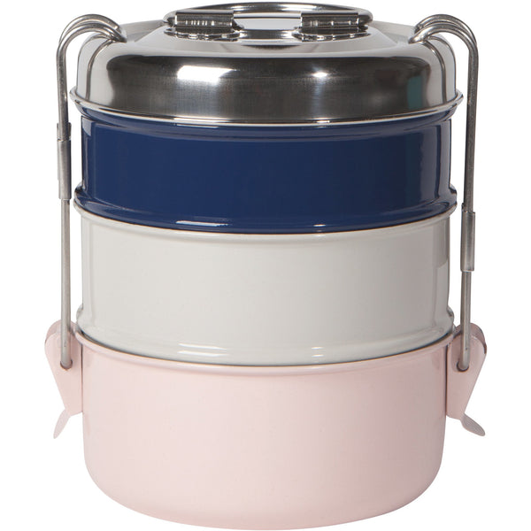 Tiffin Lunch Box - Pastel Colours