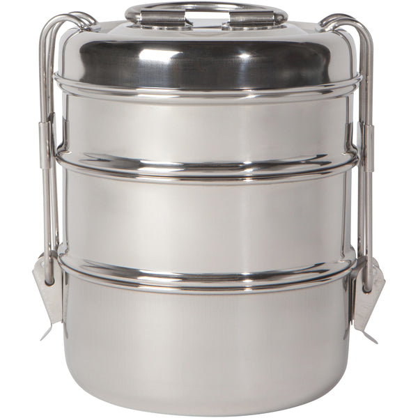 Tiffin Lunch Box Silver