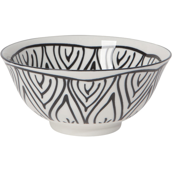 Medium Black Painted Bowl