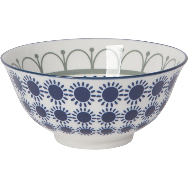 Medium Navy Patterned Bowl