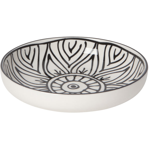 Shallow Black Painted Bowl