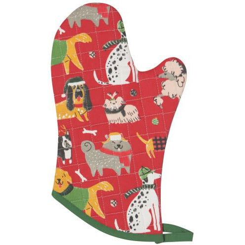 Oven Mitt Yule Dogs