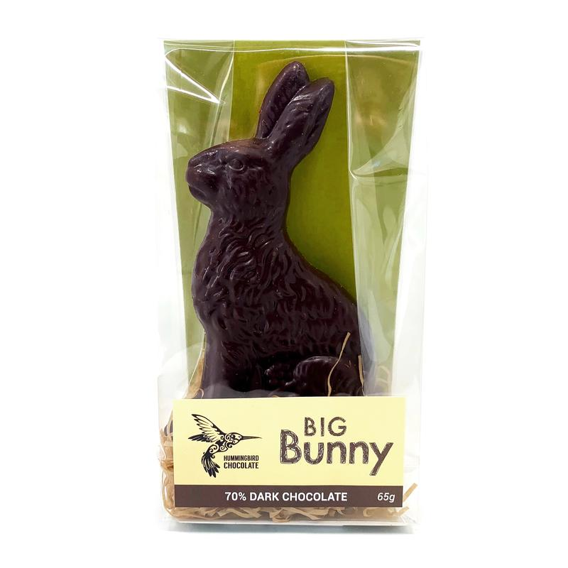 Dark Chocolate Easter Bunny - Hummingbird Chocolate