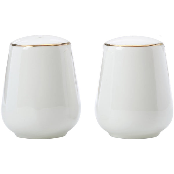 Gold Trim Salt and Pepper Set