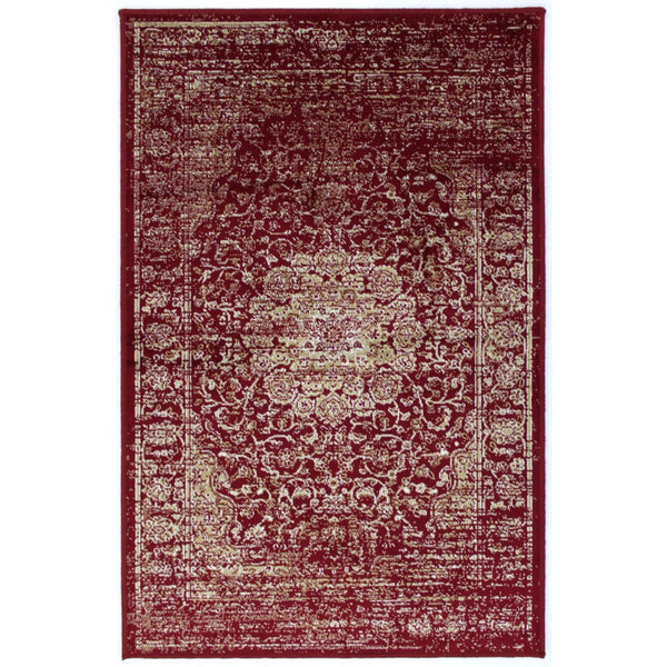 2' x 4' Rug - Garland Faded Red