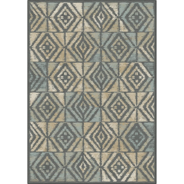 2' x 4' Rug - Graphica Grey & Tan