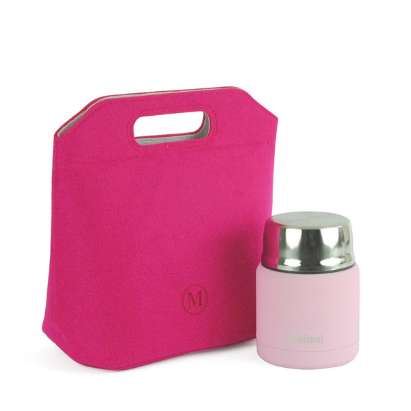 Minimal Lunch Bag in Pink