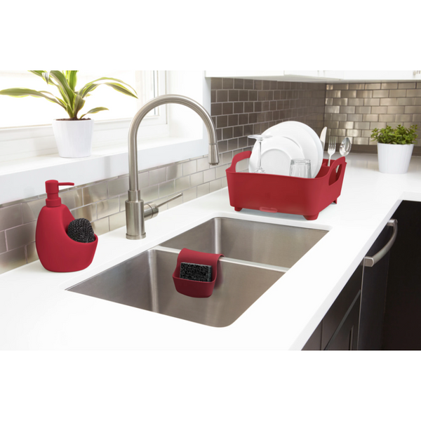 Tub Dish Rack Red