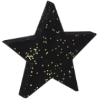 Star Decoration Small Black