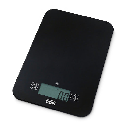 Glass Kitchen Scale - Black