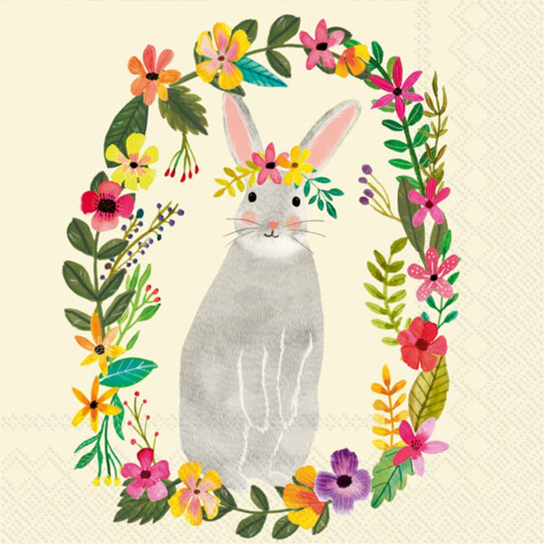 Bunny Paper Napkins - Cocktail
