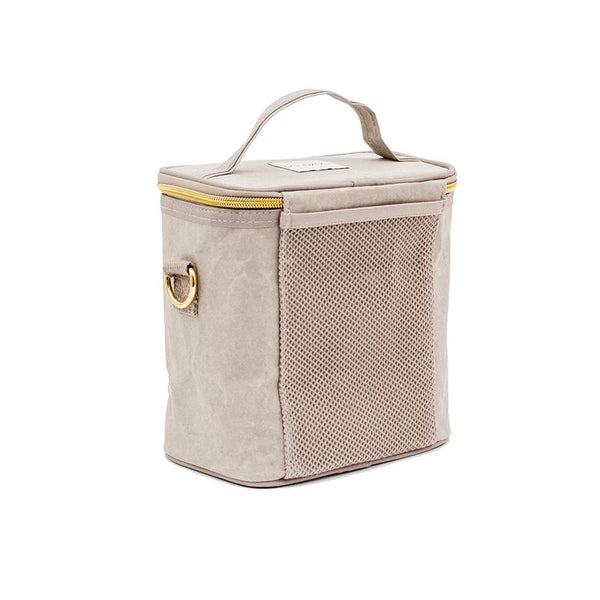 Stone Grey Paper Lunch Bag